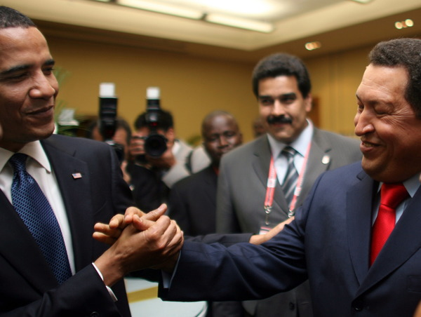 TRINIDAD-AMERICAS-SUMMIT-OBAMA-CHAVEZ