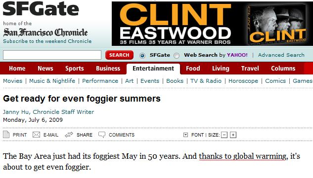 Foggier summers