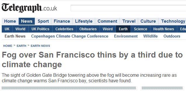 Fog thins