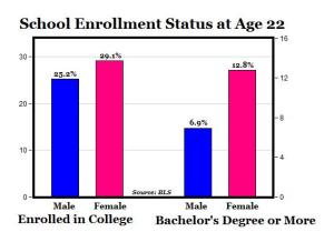 School Enrollment Status at Age 22